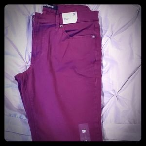 Maroon express jeans